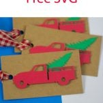 Red Truck Christmas Tags for Presents