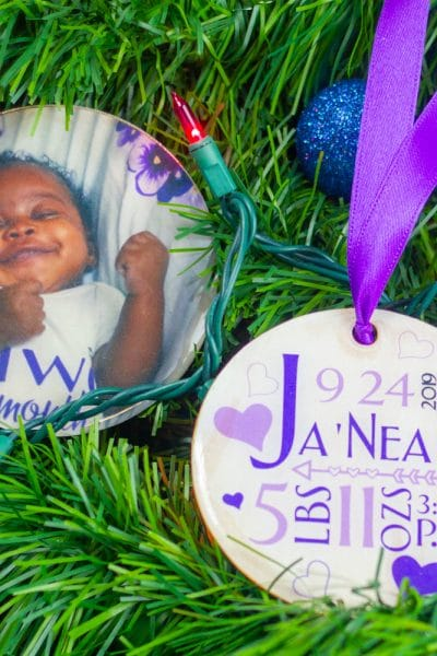 baby first christmas gift ornament