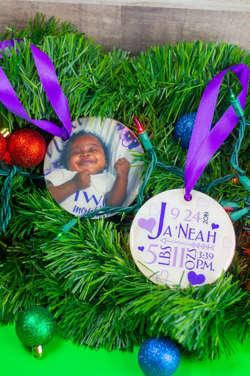 personalized christmas ornament made with the cricut maker