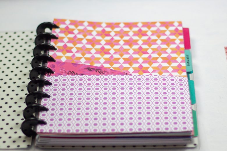 diy planner pocket folder inside a happy planner classic planner