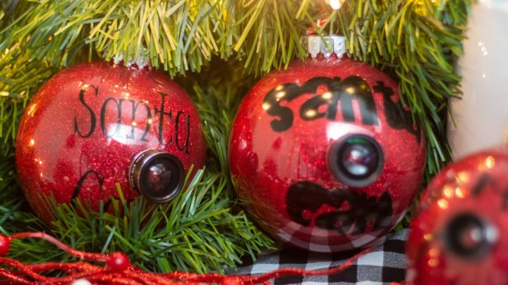 How To Make A Santa Cam Ornament