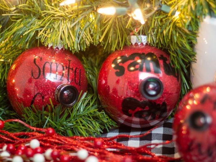 How To Make A Santa Cam Ornament