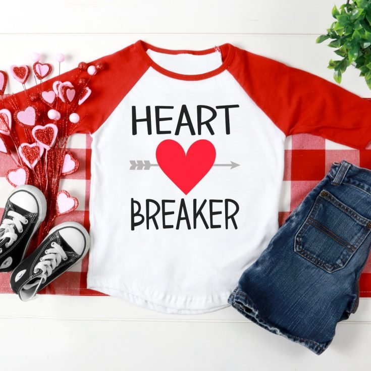 FREE Valentine's Day SVGs + Heart Breaker Shirt