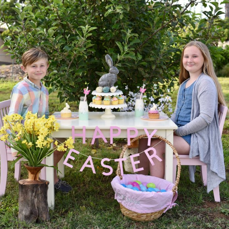 How to Create Darling Easter Table Decor for Kids
