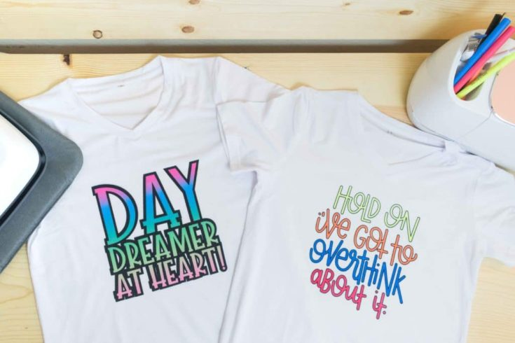 Make T-Shirts with Cricut Infusible Ink Transfer Sheets and Markers