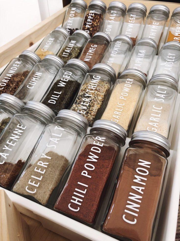 DIY Spice Jar Labels With Cricut Maker
