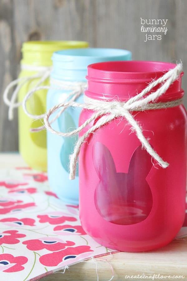 Bunny Luminary Jars