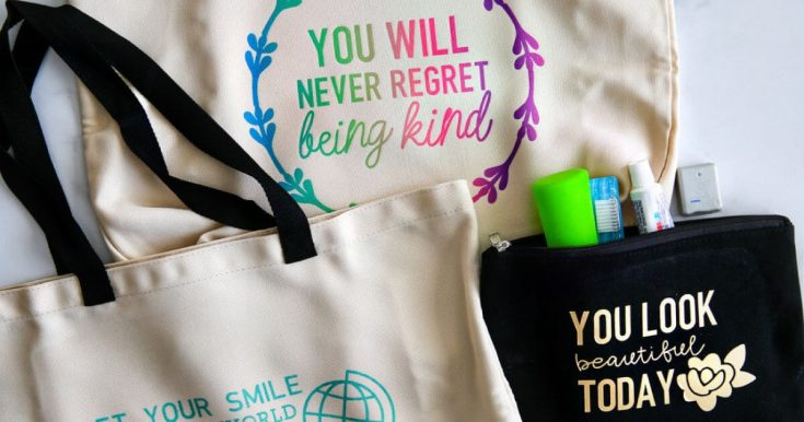 Reusable Tote Infusible Ink Design