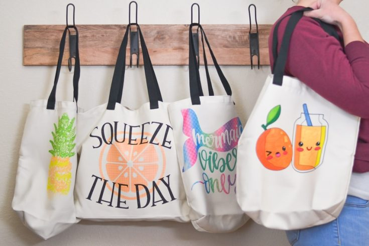 DIY Tote Bags with Cricut Infusible Ink
