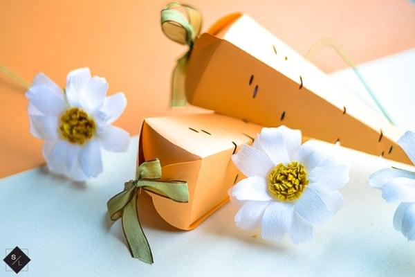 Carrot Favor Box for Easter