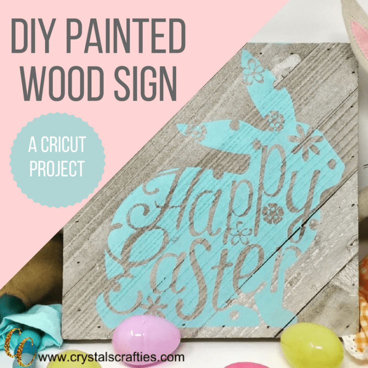 Cricut Projects DIY wood sign for Easter