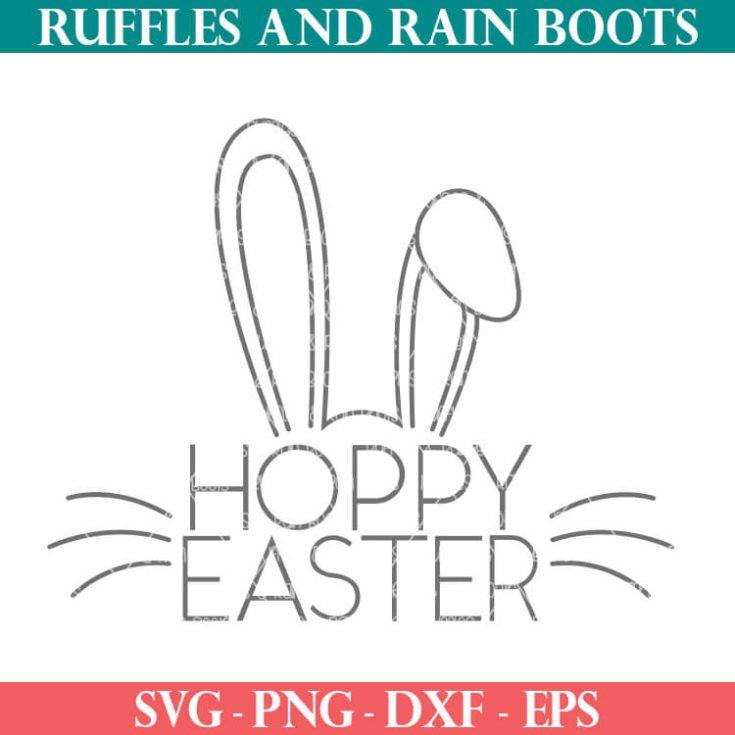 Free Hand Drawn Slim Line Hoppy Easter SVG Cut File Set