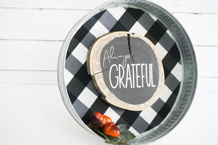 Always Grateful Fall Sign Made with Cricut