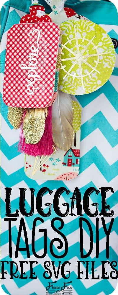 Luggage Tag DIY with Cricut
