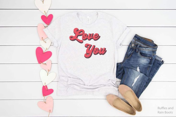 Retro Love T-shirt Idea