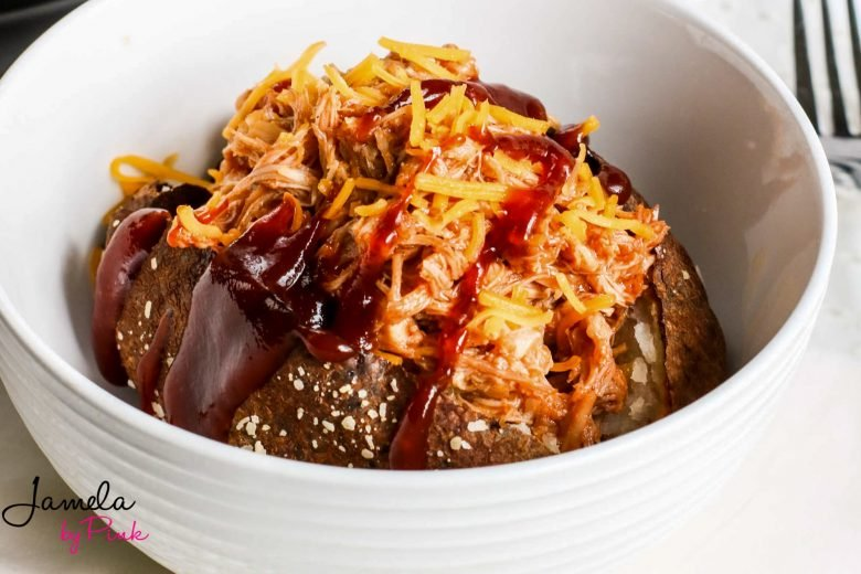 air fryer baked potato chili and cheese