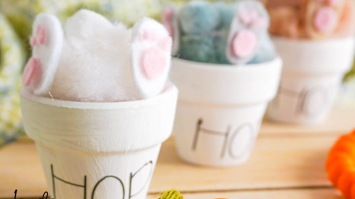 How To Make Easter Bunny Butt Pots