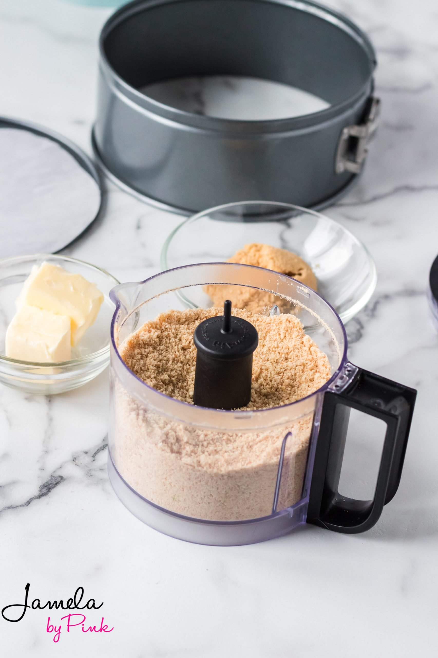 ingredients for an instant pot cheesecake crust