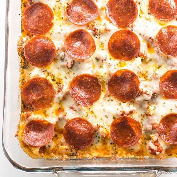 Keto Low Carb Pizza Casserole Recipe (Easy) - 5 Ingredients