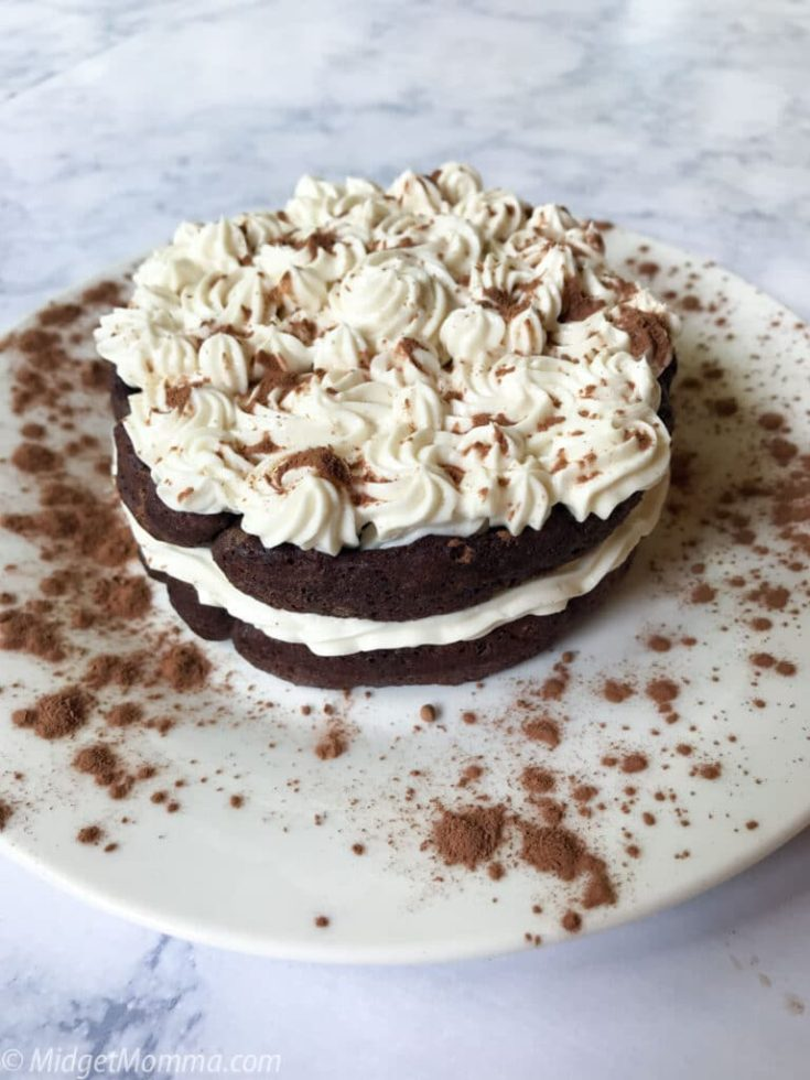 Keto Chocolate Chaffle Cake With Cream Cheese Frosting