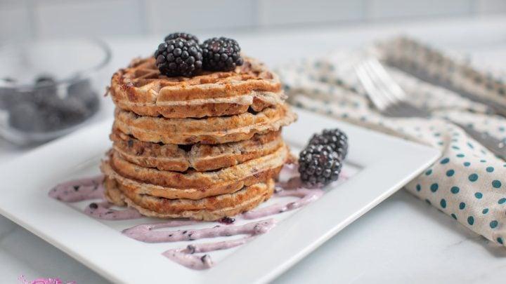 Blackberries and Cream Chaffle Recipe