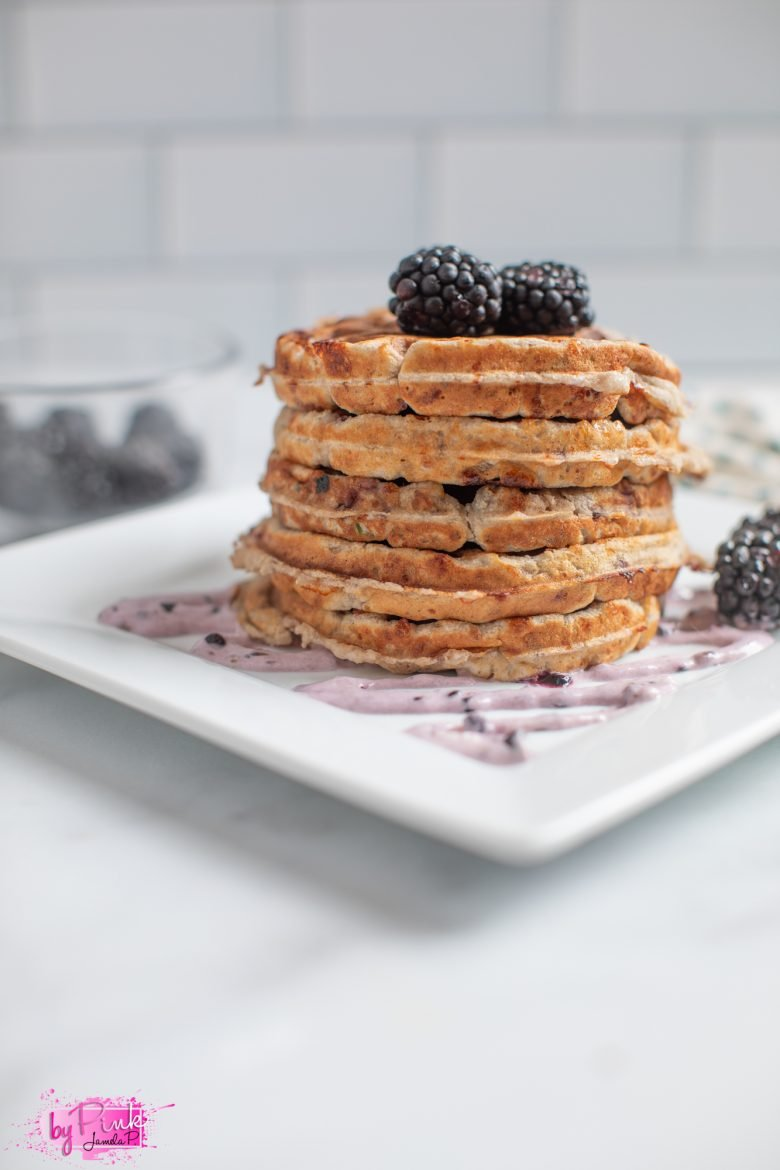 blueberries and cream chaffles