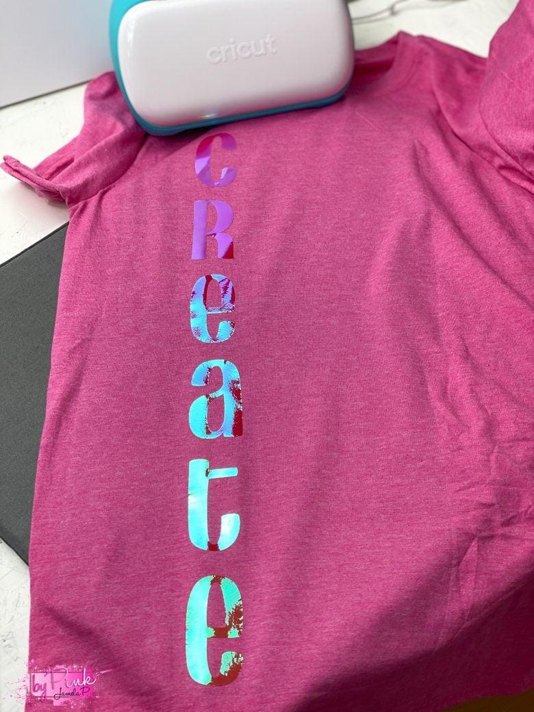 """create"" shirt made with cricut"
