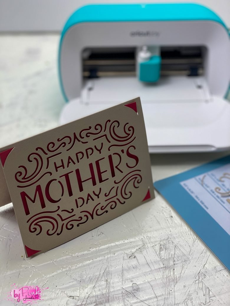 mothers day card with cricut