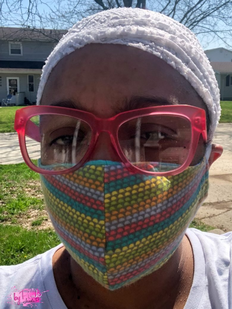 face mask being worn