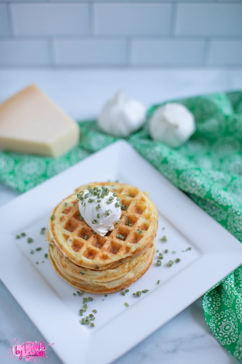 chaffles with cream cheese toppings