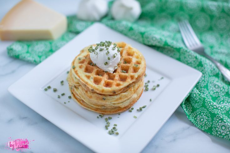 Parmesan Garlic Keto Chaffles