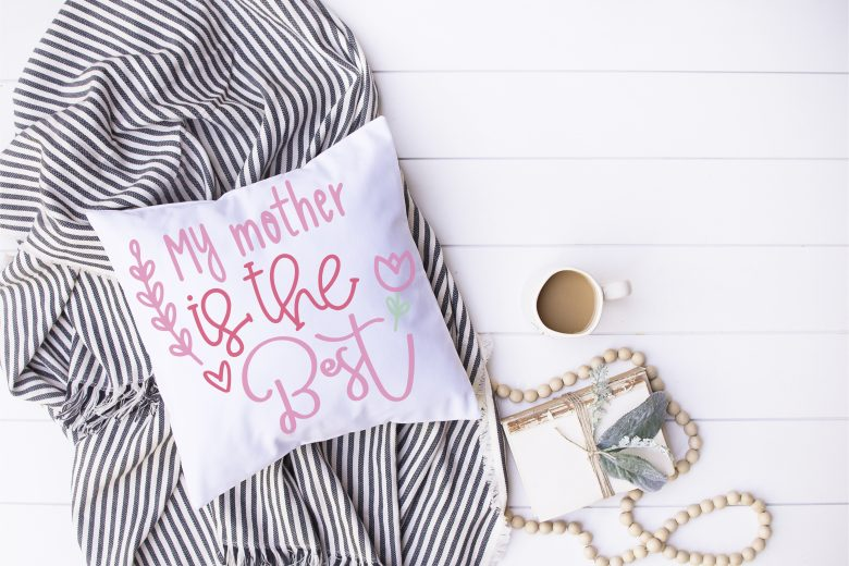 mother's day svg on stripes