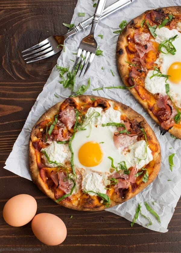 Ham and Egg Breakfast Pizza