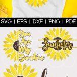 Free Sunflower SVG pin template
