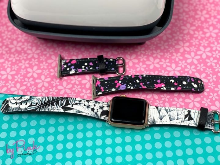 set of 2 diy watch bands made with cricut infusible ink