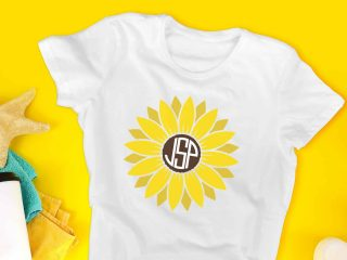 flat lay shirt on a yellow background featuring a