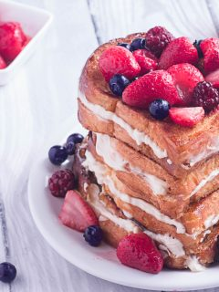plate of stuffed french toast