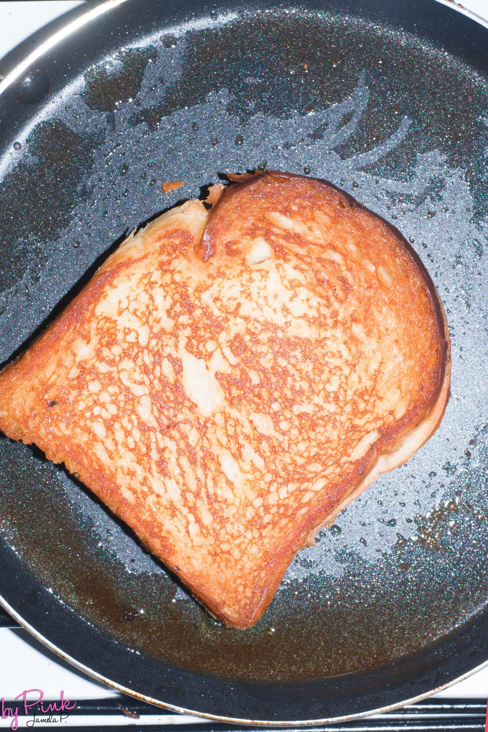 frying french toast in a pan